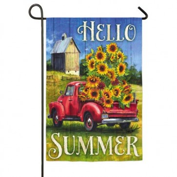 Sunflower Truck Garden Flag Garden Flags On Sale Flags