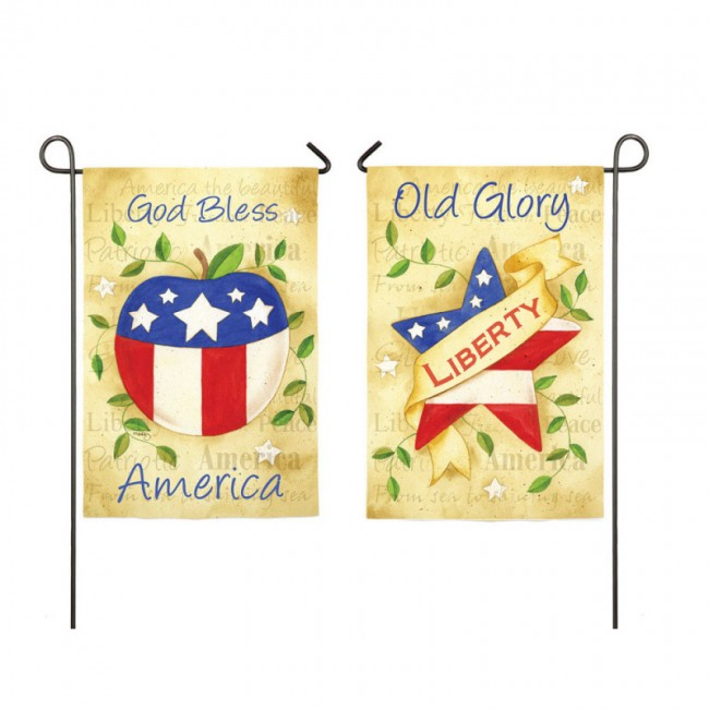 America The Beautiful Garden Flag Two Flags In One