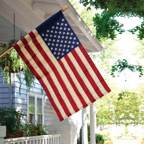 American Flag Tea Stained House Flag Patriotic Flags
