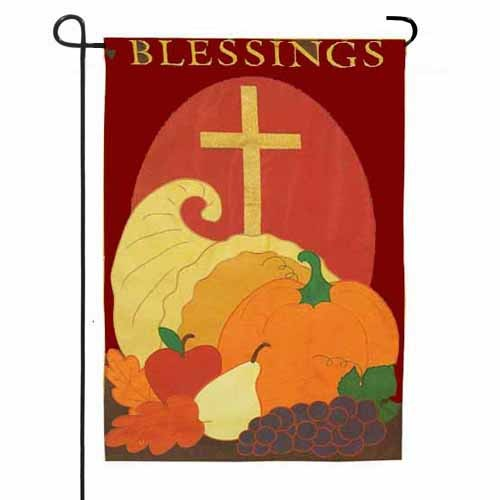 Cornucopia And Cross Garden Flag Garden Flags On Sale