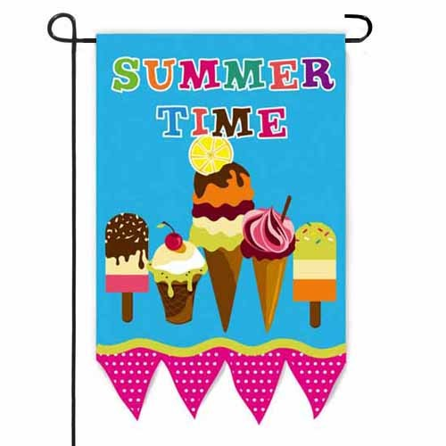 Summertime Ice Cream Garden Flag Garden Flags On Sale